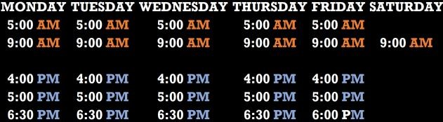 CrossFit Hoka Hey Schedule